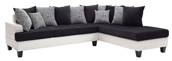 Glory Furniture Domino Contemporary Black Sectional GLRY-G220-SC