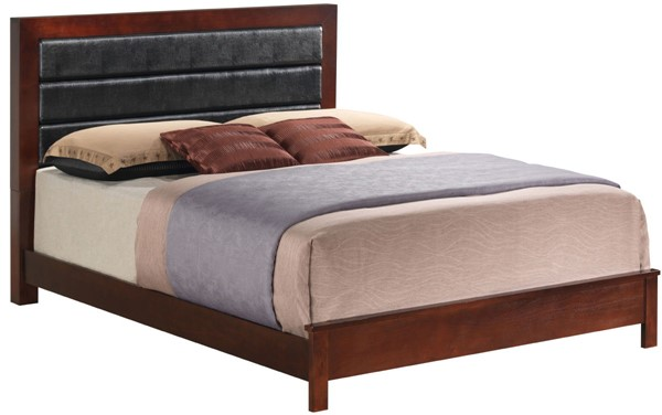 Glory Furniture Burlington Transitional Cherry King Bed with Padded Headboard GLRY-G2400A-KB
