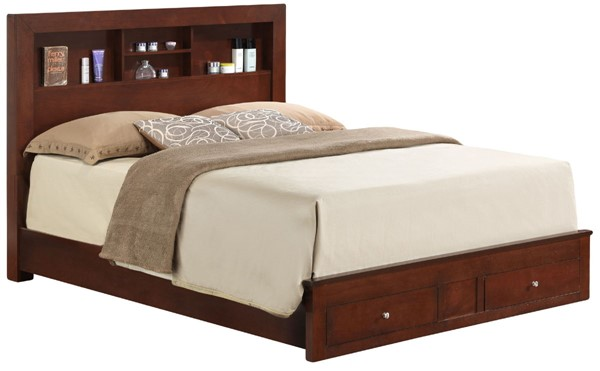 Glory Furniture Burlington Cherry King Storage Bed GLRY-G2400D-KSB2