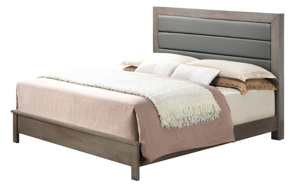 Glory Furniture Burlington Transitional Gray Full Bed with Padded Headboard GLRY-G2405A-FB