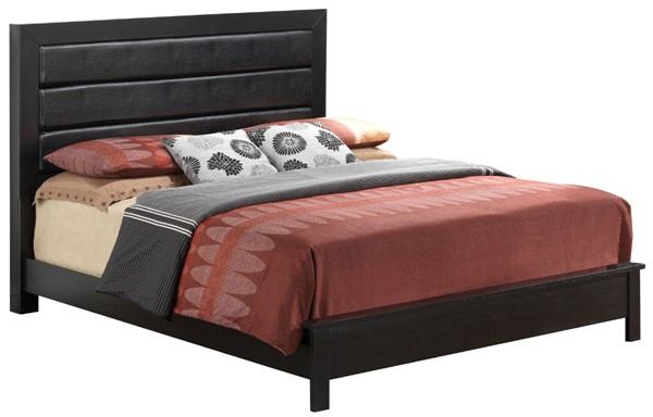 Glory Furniture Burlington Black Faux Leather Full Bed GLRY-G2450A-FB
