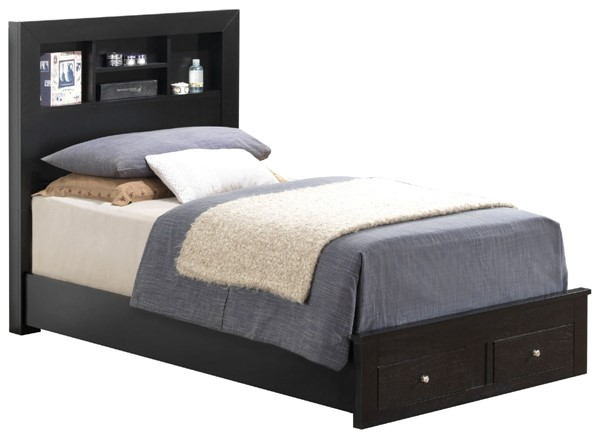 Glory Furniture Burlington Transitional Black Twin Storage Bed GLRY-G2450D-TSB2