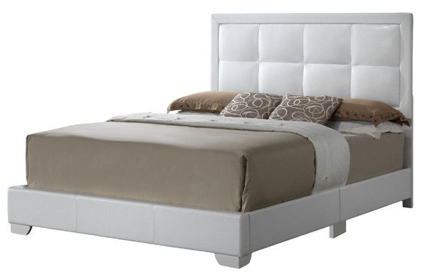 Glory Furniture Panello Contemporary White King Bed with Padded Headboard GLRY-G2594-KB-UP