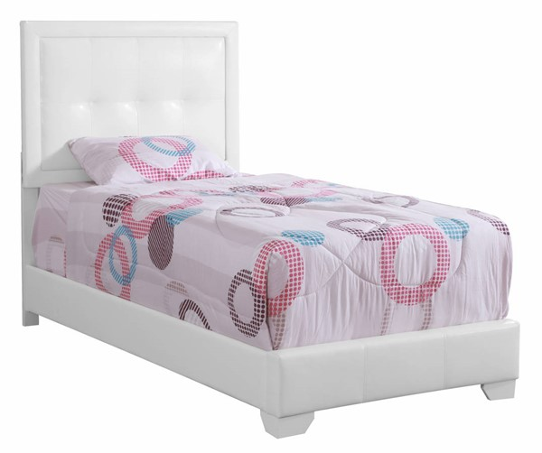Glory Furniture Panello White Faux Leather Twin Bed GLRY-G2594-TB-UP