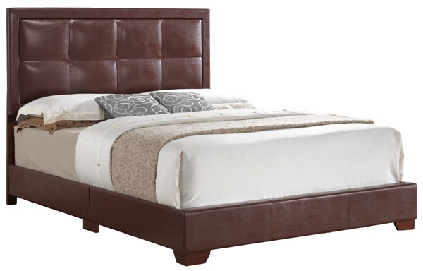 Glory Furniture Panello Contemporary Light Brown Full Bed with Padded Headboard GLRY-G2596-FB-UP