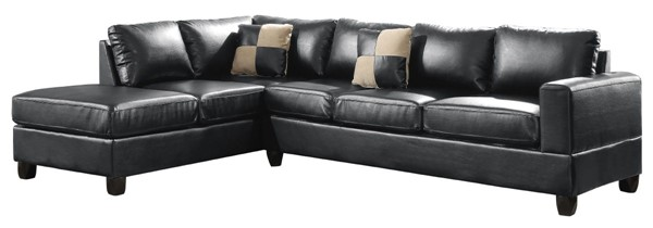 Glory Furniture Revere Contemporary Black Sectionals GLRY-G30B-SEC-VAR