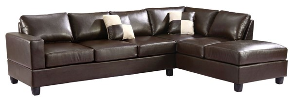 Glory Furniture Revere Contemporary Cappuccino Sectional GLRY-G305B-SC