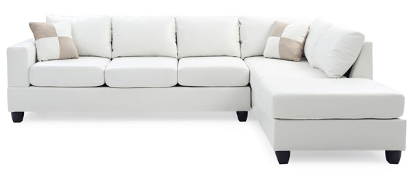 Glory Furniture Revere Contemporary White Sectional GLRY-G307B-SC