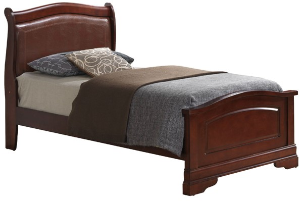Glory Furniture Louis Phillipe Traditional Cherry Twin Bed GLRY-G3100C-TB2