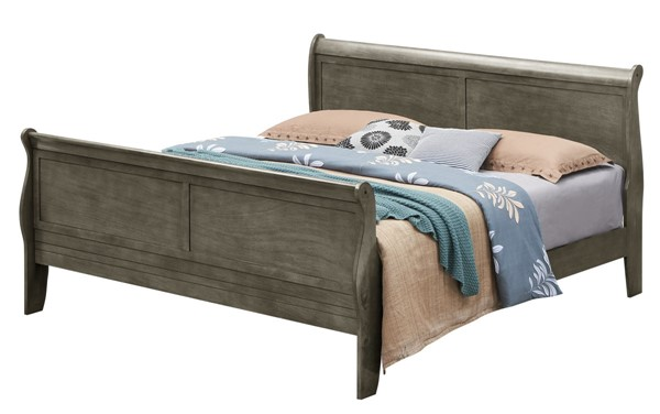 Glory Furniture Louis Phillipe Gray Queen Sleigh Bed GLRY-G3105A-QB