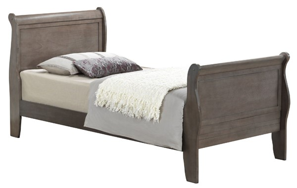 Glory Furniture Louis Phillipe Traditional Gray Twin Sleigth Bed GLRY-G3105A-TB