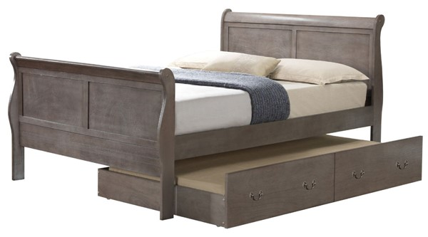 Glory Furniture Louis Phillipe Traditional Gray Full Trundle Bed GLRY-G3105G-FTB