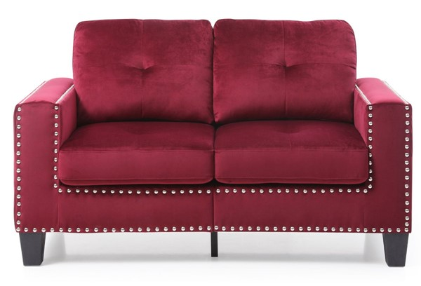Glory Furniture Nailer Traditional Burgundy Loveseat GLRY-G312A-L