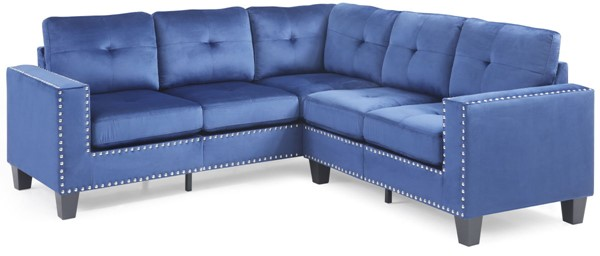 Glory Furniture Nailer Transitional Navy Blue Sectional GLRY-G313B-SC
