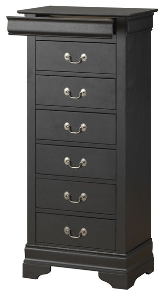 Glory Furniture Louis Phillipe Traditional Black Lingerie Chest GLRY-G3150-LC