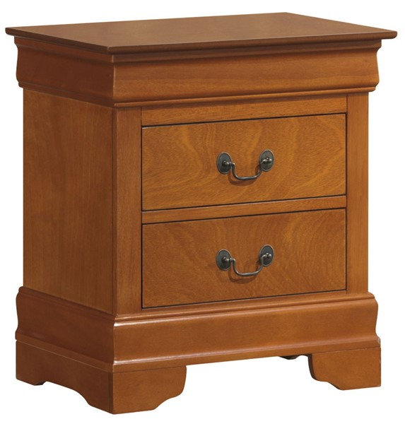 Glory Furniture Louis Phillipe Traditional Oak Nightstand GLRY-G3160-N