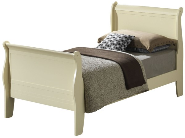 Glory Furniture Louis Phillipe Traditional Beige Twin Sleigh Bed GLRY-G3175A-TB