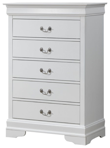 Glory Furniture Louis Phillipe Traditional White Chest GLRY-G3190-CH