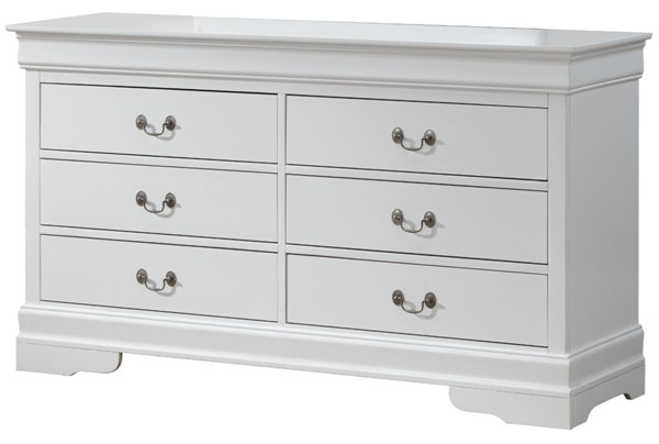 Glory Furniture Louis Phillipe Traditional White Dresser GLRY-G3190-D