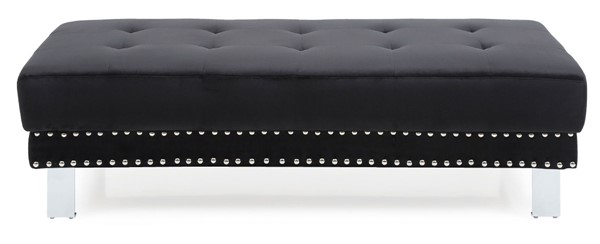 Glory Furniture Derek Contemporary Black Ottoman GLRY-G372-O