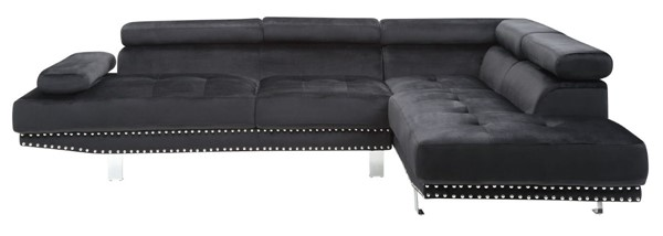 Glory Furniture Derek Contemporary Black Sectional GLRY-G372-SC