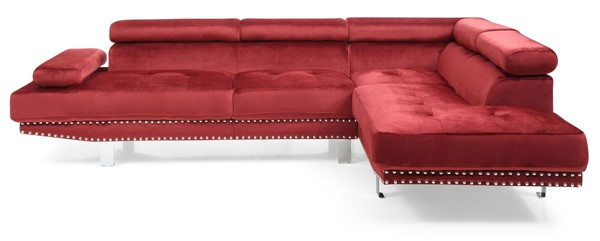 Glory Furniture Derek Contemporary Cherry Sectional GLRY-G373-SC