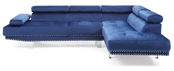 Glory Furniture Derek Contemporary Navy Blue Sectional GLRY-G374-SC