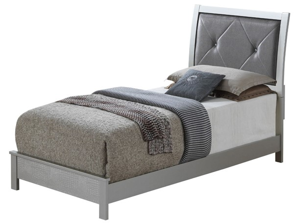 Glory Furniture Glades Contemporary Silver Champagne Twin Bed GLRY-G4200A-TB