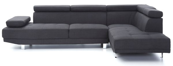 Glory Furniture Riveredge Contemporary Black Febric Sectional GLRY-G441-SC