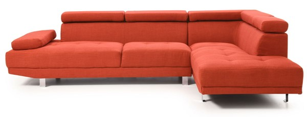 Glory Furniture Riveredge Contemporary Orange Febric Sectional GLRY-G444-SC