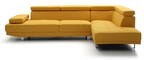 Glory Furniture Riveredge Contemporary Yellow Febric Sectional GLRY-G446-SC