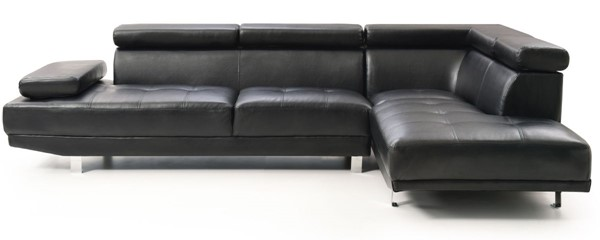 Glory Furniture Riveredge Contemporary Black Faux Leather Sectional GLRY-G448-SC