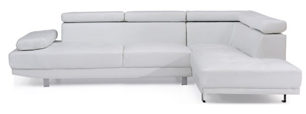 Glory Furniture Riveredge Contemporary White Faux Leather Sectional GLRY-G449-SC