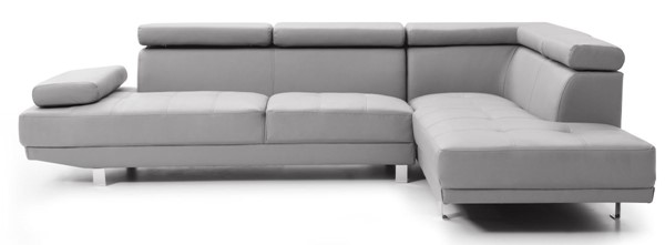 Glory Furniture Riveredge Contemporary Gray Faux Leather Sectional GLRY-G452-SC