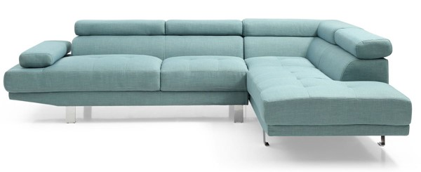 Glory Furniture Riveredge Contemporary Teal Febric Sectional GLRY-G453-SC