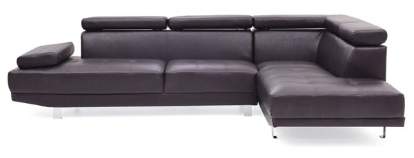 Glory Furniture Riveredge Dark Brown Faux Leather Sectional GLRY-G455-SC