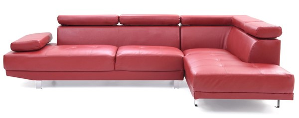 Glory Furniture Riveredge Contemporary Red Faux Leather Sectional GLRY-G456-SC