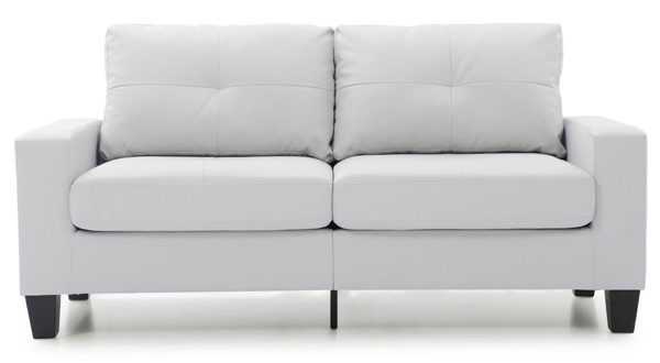 Glory Furniture Newbury Casual White Faux Leather Modular Sofa GLRY-G460A-S