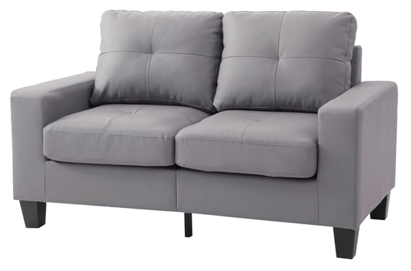 Glory Furniture Newbury Gray Faux Leather Modular Loveseat GLRY-G461A-L