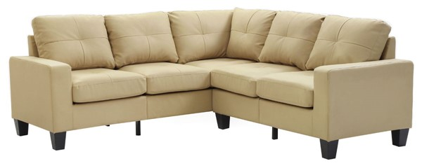 Glory Furniture Newbury Casual Beige Faux Leather Sectional GLRY-G462B-SC