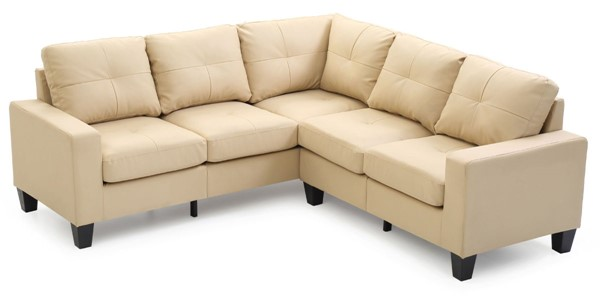 Glory Furniture Newbury Beige Faux Leather Sectional GLRY-G462B-SC
