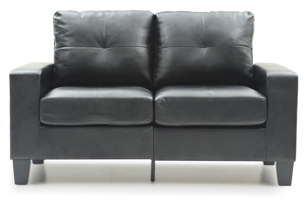 Glory Furniture Newbury Black Faux Leather Modular Loveseat GLRY-G463A-L