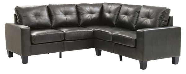 Glory Furniture Newbury Casual Black Faux Leather Sectional GLRY-G463B-SC