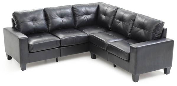 Glory Furniture Newbury Black Faux Leather Sectional GLRY-G463B-SC
