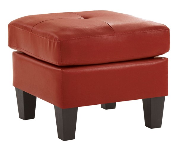 Glory Furniture Newbury Red Faux Leather Ottoman GLRY-G465-O