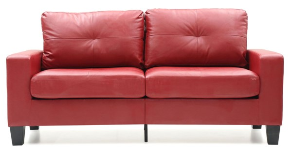 Glory Furniture Newbury Red Faux Leather Modular Sofa GLRY-G465A-S
