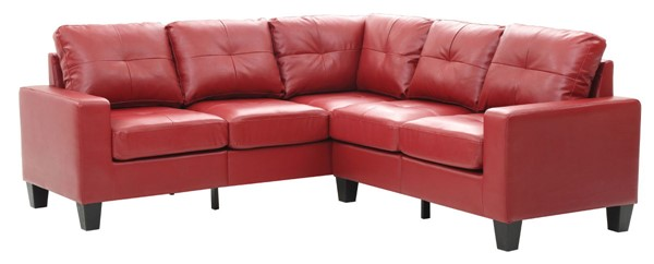 Glory Furniture Newbury Casual Red Faux Leather Sectional GLRY-G465B-SC