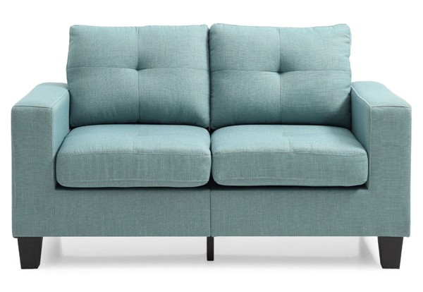 Glory Furniture Newbury Teal Fabric Modular Loveseat GLRY-G500A-L