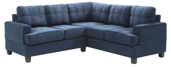 Glory Furniture Sandridge Transitional Navy Blue Sectionals GLRY-G51B-SEC-VAR