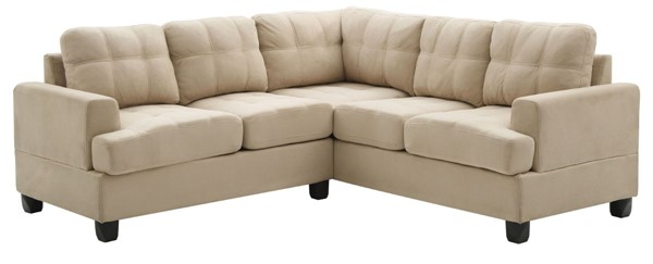 Glory Furniture Sandridge Transitional Vanilla Sectional GLRY-G511B-SC